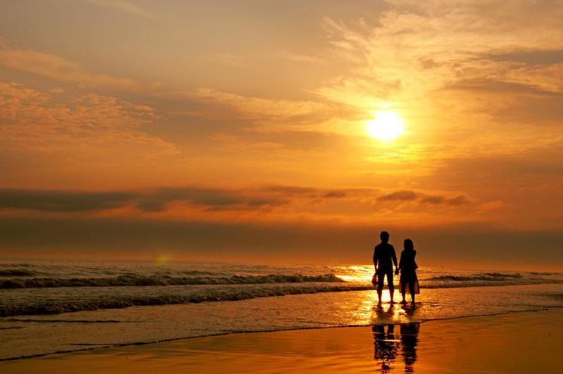 微信头像夕阳背影