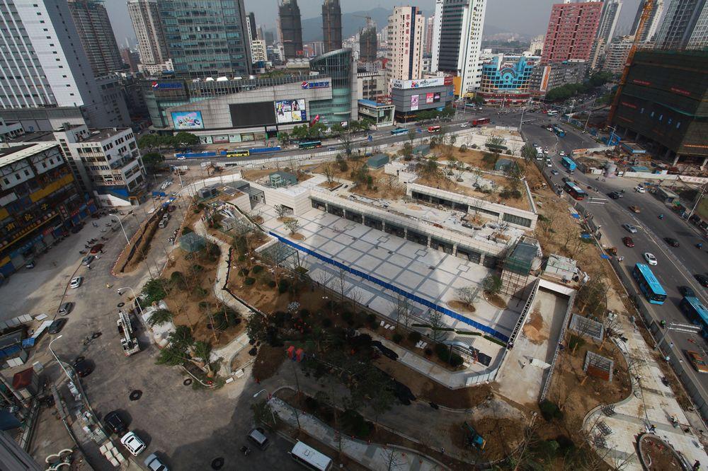 2014年5月28日,胜利门广场地铁站建设已经进入倒记时。.jpg