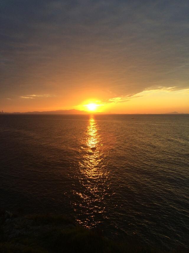 微信头像海边夕阳背影